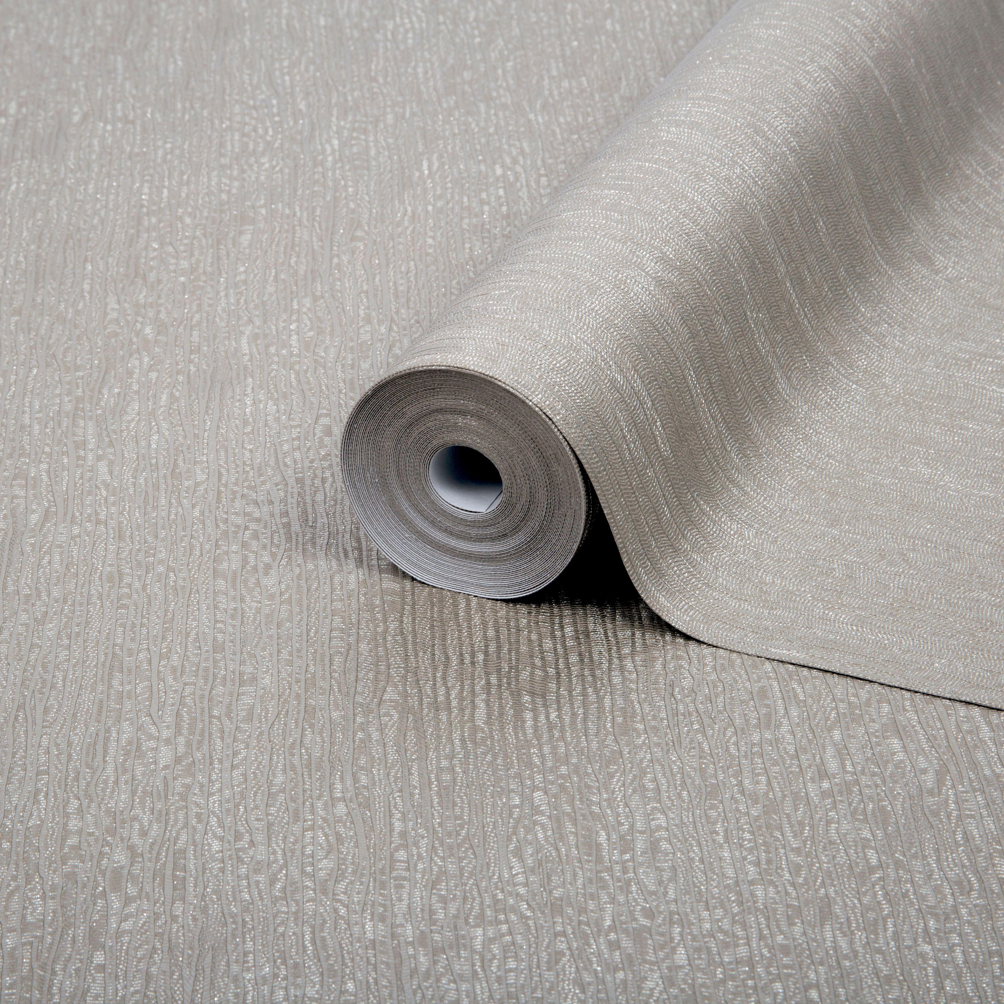 Boutique Corsetto Taupe Textured Glitter Wallpaper