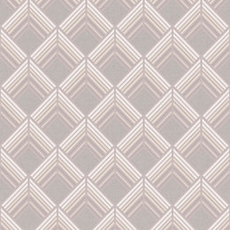 Boutique Solitaire Taupe Geometric Metallic Effect Wallpaper