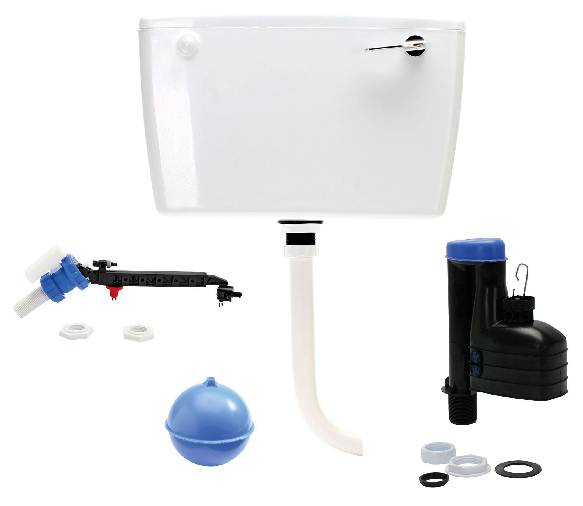 Bathroom cistern fittings - Fluidmaster Exposed Cistern H 340mm W 500mm D 155mm
