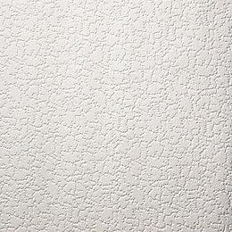 Graham & Brown Superfresco White Snow Paintable Wallpaper