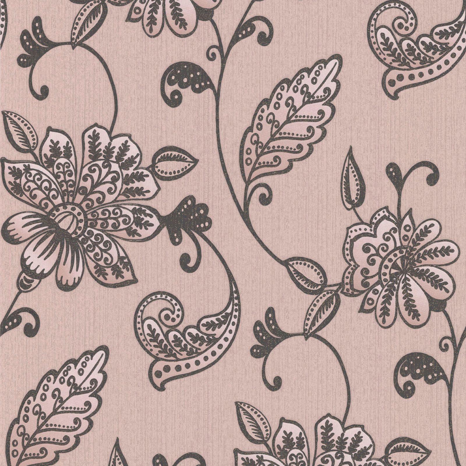 Purple And Gold Bedroom Graham Amp Brown Juliet Mushroom Floral Wallpaper