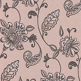 Graham & Brown Juliet Mushroom Floral Wallpaper