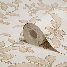 Graham & Brown Sarra Gold Effect Leaves Wallpaper