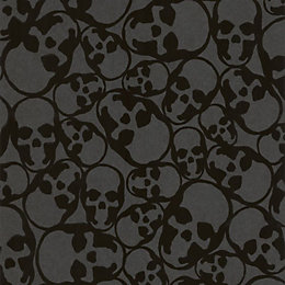 Graham & Brown Barbara Hulanicki Midnight Skulls Wallpaper
