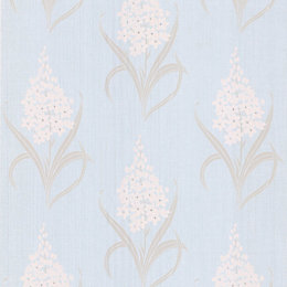 Graham & Brown Superfresco Duck Egg Hyacinth Wallpaper