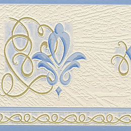 Paste The Paper Chopin Blue & Cream Border