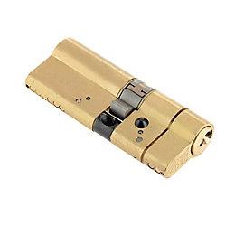 Yale 40/45mm Brass Euro Cylinder Lock