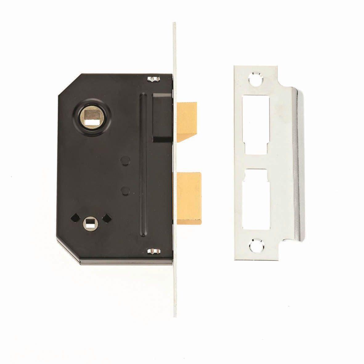 Escape The Bathroom Lock Code union 64mm chrome effect bathroom mortice lock | departments | diy