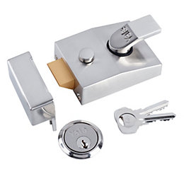 Yale 60mm Chrome Effect Night Latch P-89-SC-SC-60