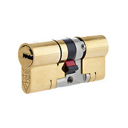 Yale 70mm Brass Euro Cylinder Lock