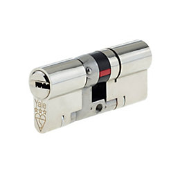 Yale 70mm Nickel Plated Brass Euro Cylinder Lock