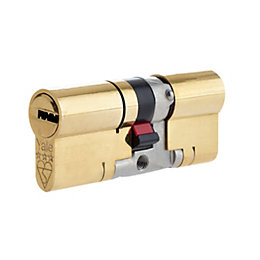 Yale 80mm Brass Euro Cylinder Lock
