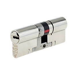 Yale 100mm Nickel Plated Brass Euro Cylinder Lock