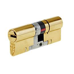 Yale 95mm Brass Euro Cylinder Lock