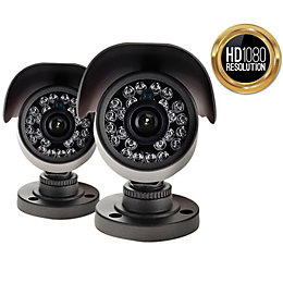 Yale HD Wired Outdoor Bullet Camera Twin Pack