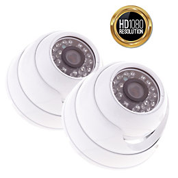 Yale HD Wired Indoor Dome Camera Twin Pack