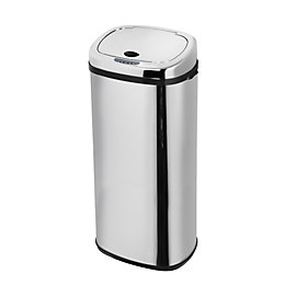 Morphy Richards Brushed Stainless Steel Square Sensor Bin,