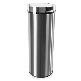 Morphy Richards Brushed Stainless Steel Round Sensor Bin,