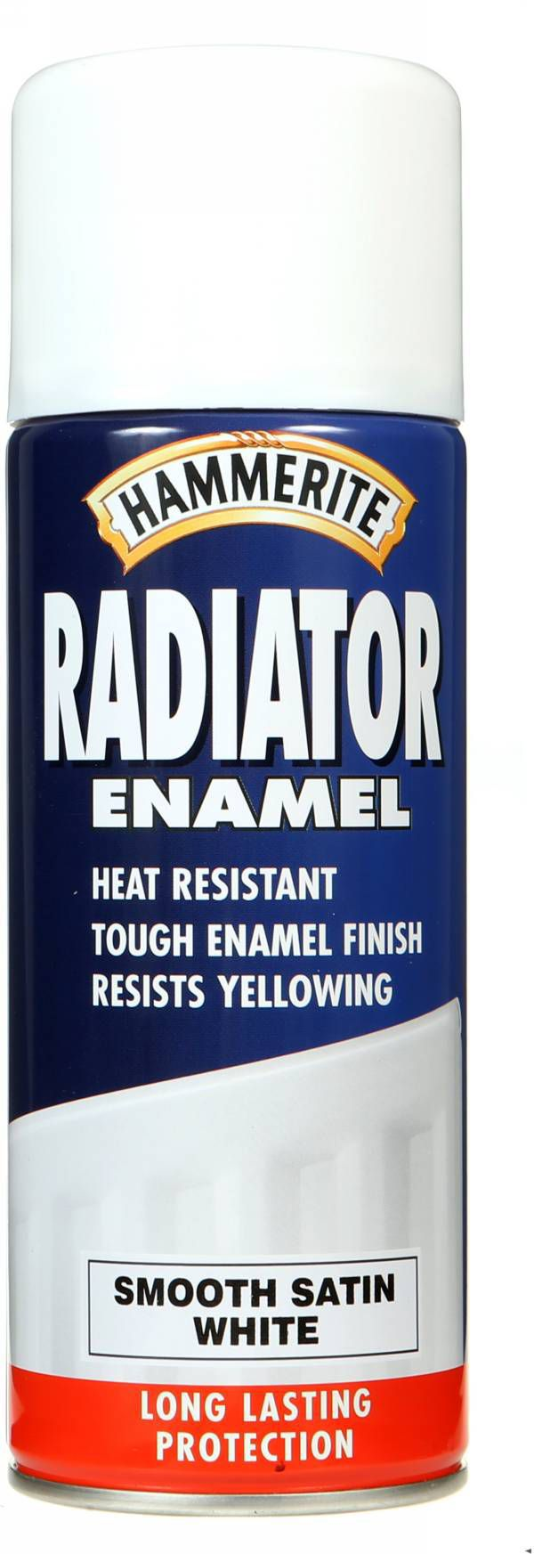 Hammerite White Satin Radiator Paint 400 Ml
