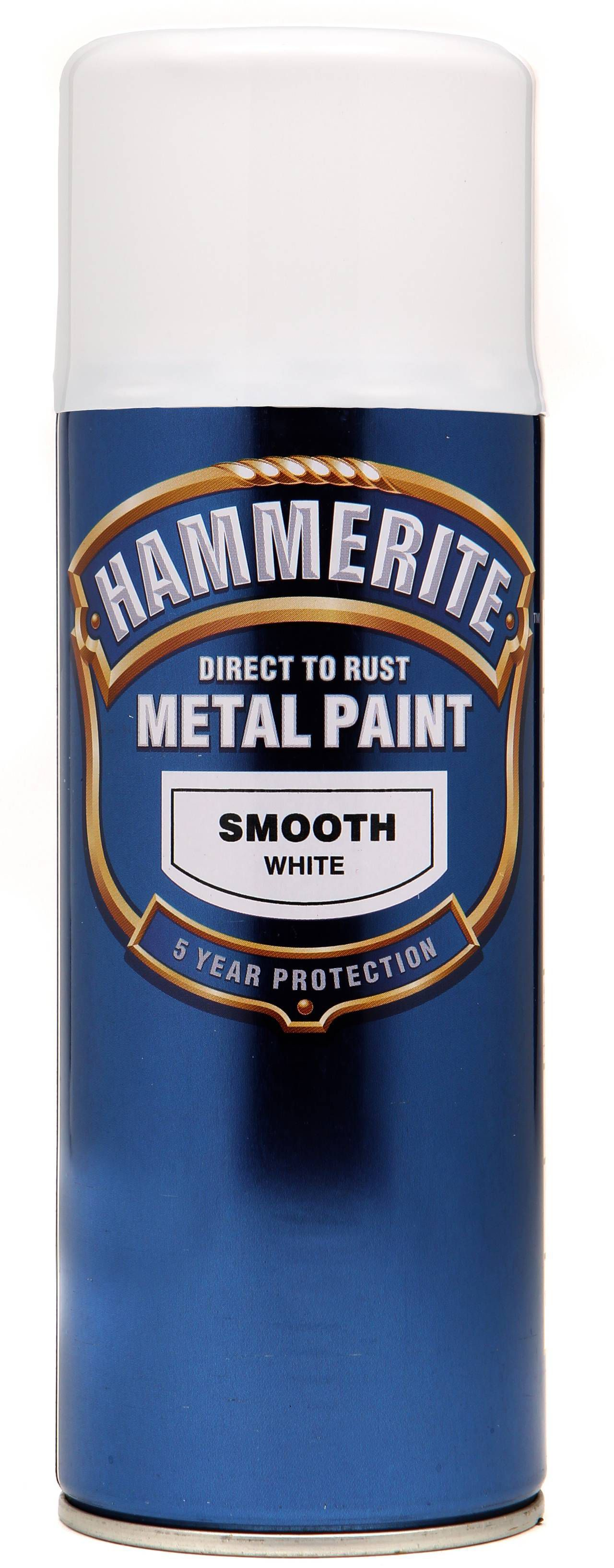 Hammerite Smoothrite White Gloss Metal Spray Paint 400 Ml