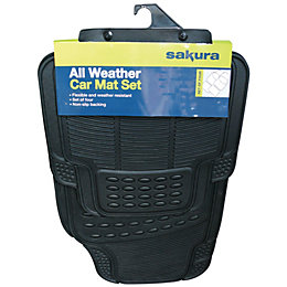 Sakura All Weather Black Car Mat, Set of