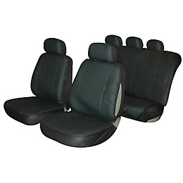 Plastic Black Seat Cover, Set