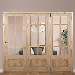 Tamar Clear Pine Veneer Glazed Internal Folding Door