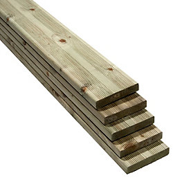 Premium Softwood Deck Board (T)28mm (W)144mm (L)2400mm, Pack