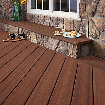TREX Moroccan red composite deck boards
