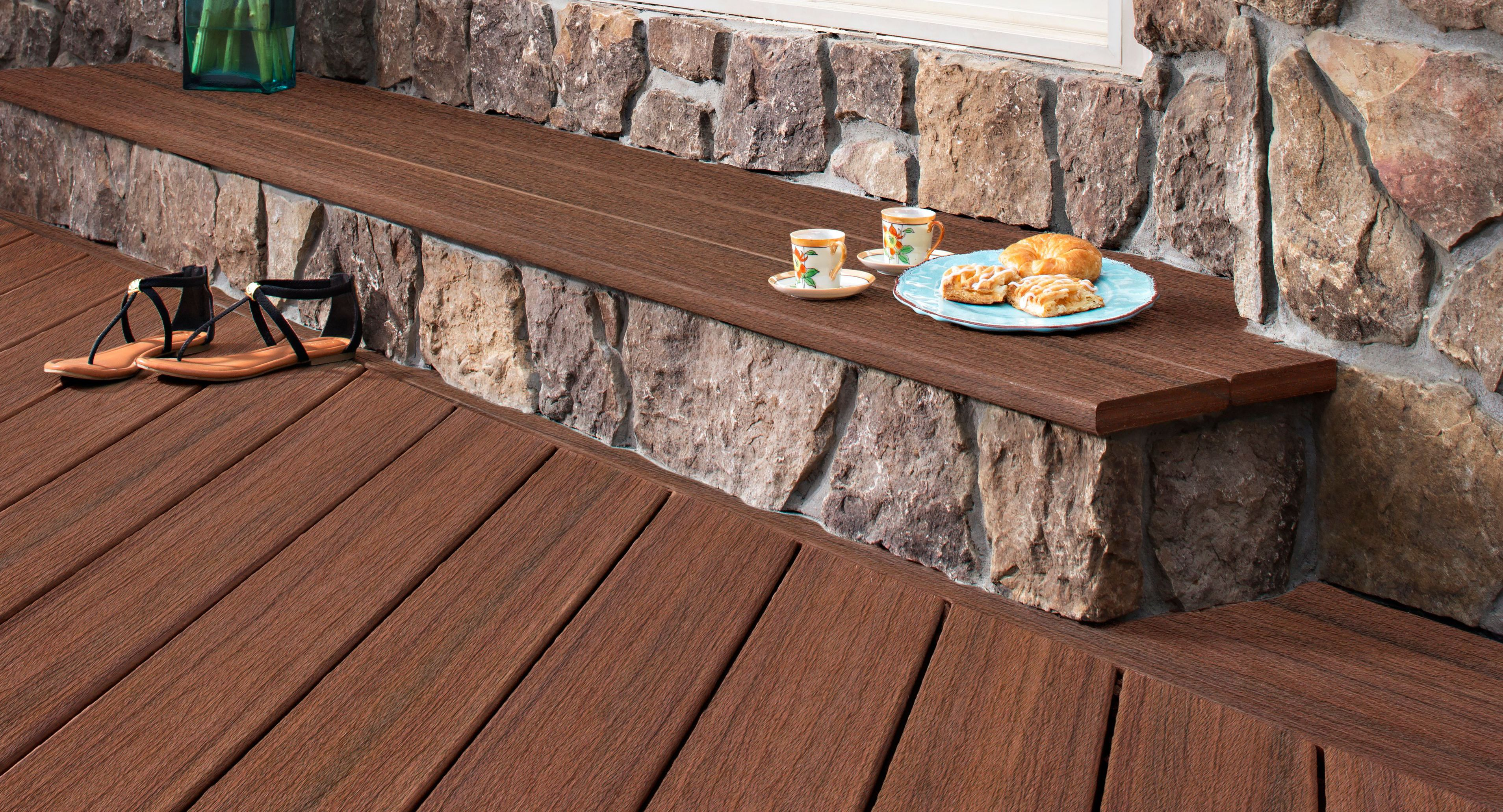 How to clean paint and care for decking help ideas for Garden decking before and after