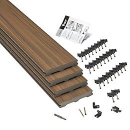 Trex® Torino Brown Composite Deck Board (T)24mm (W)140mm