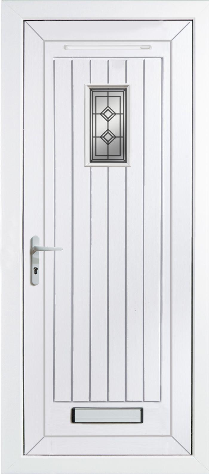 Cottage Panelled Pvcu Glazed External Front Door U0026 Frame Rh, (h)2055mm (