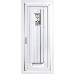 Cottage Panelled PVCu Glazed External Front Door &