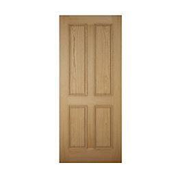 4 Panel White Oak Veneer Front Door &