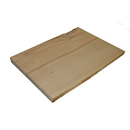 Beech Waney Edge Furniture Board (L)400mm (W)300mm (T)25mm