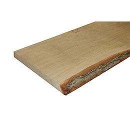 Oak Waney Edge Board (L)900mm (W)300mm (T)25mm