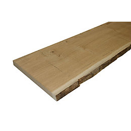 Oak Waney Edge Furniture Board (L)1800mm (W)300mm (T)25mm