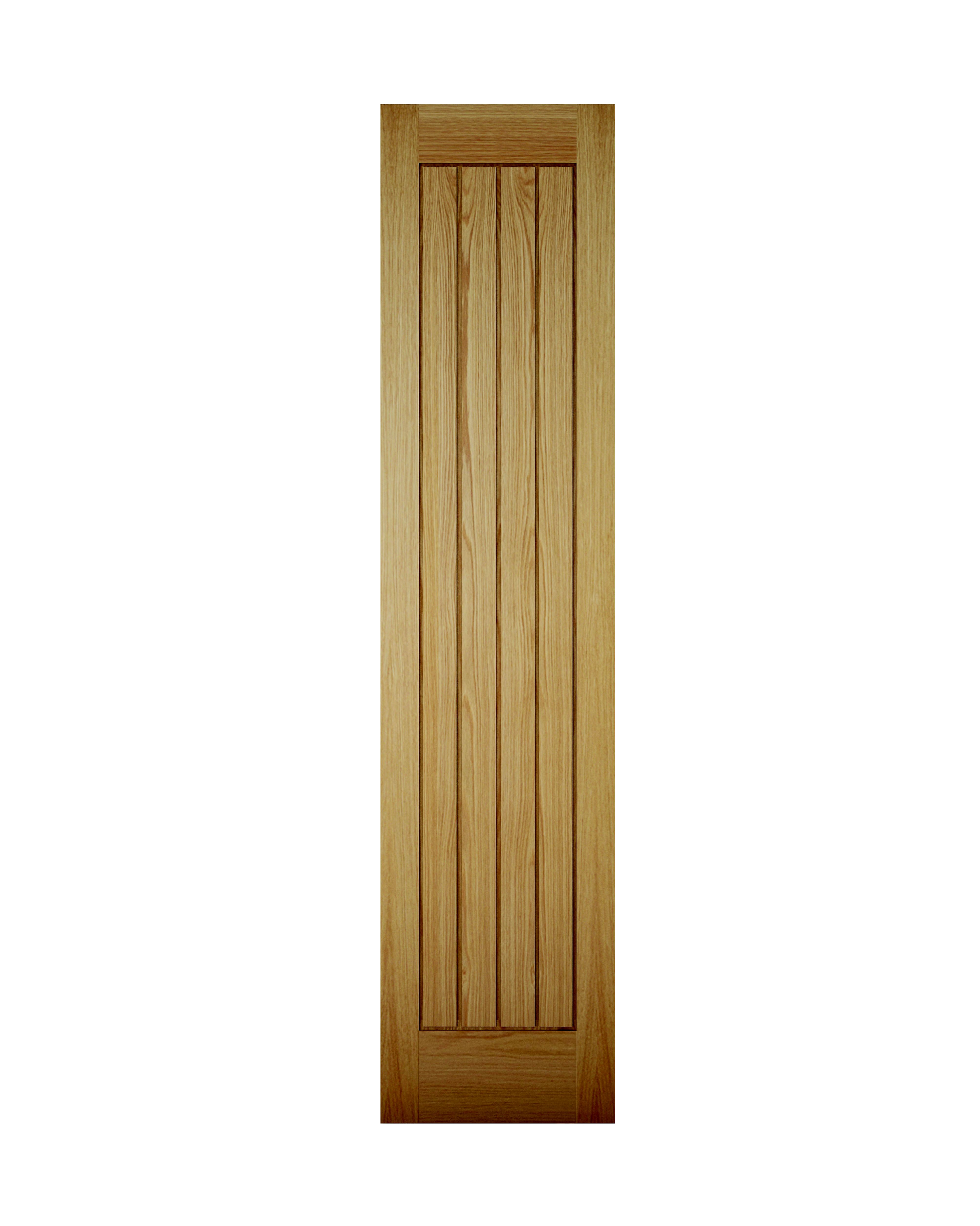 Cottage Panel Oak Veneer Unglazed Internal Cupboard Door, (h)1981mm (w)457mm
