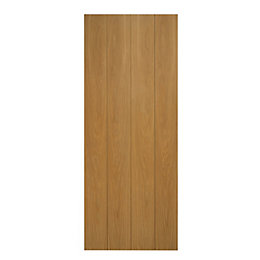 Cottage Full Board Oak Veneer Internal Unglazed Door,