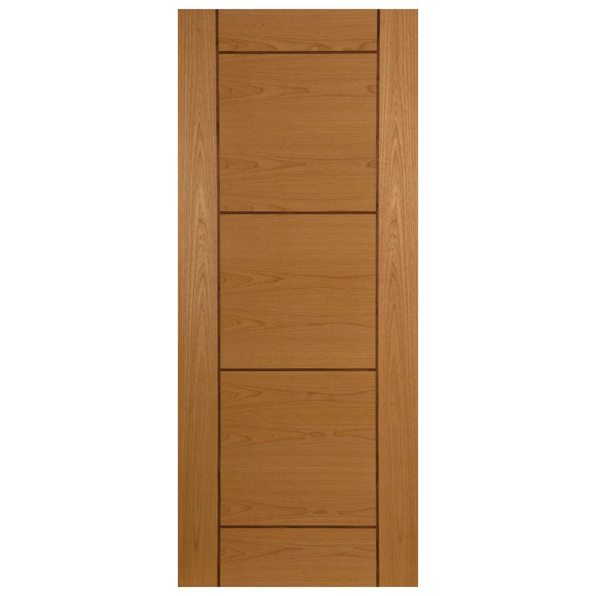 Ventford walnut veneer timber external front door h for Wood veneer garage doors