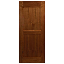 Blackton 2 Panel Walnut Veneer Front Door, (H)2032mm