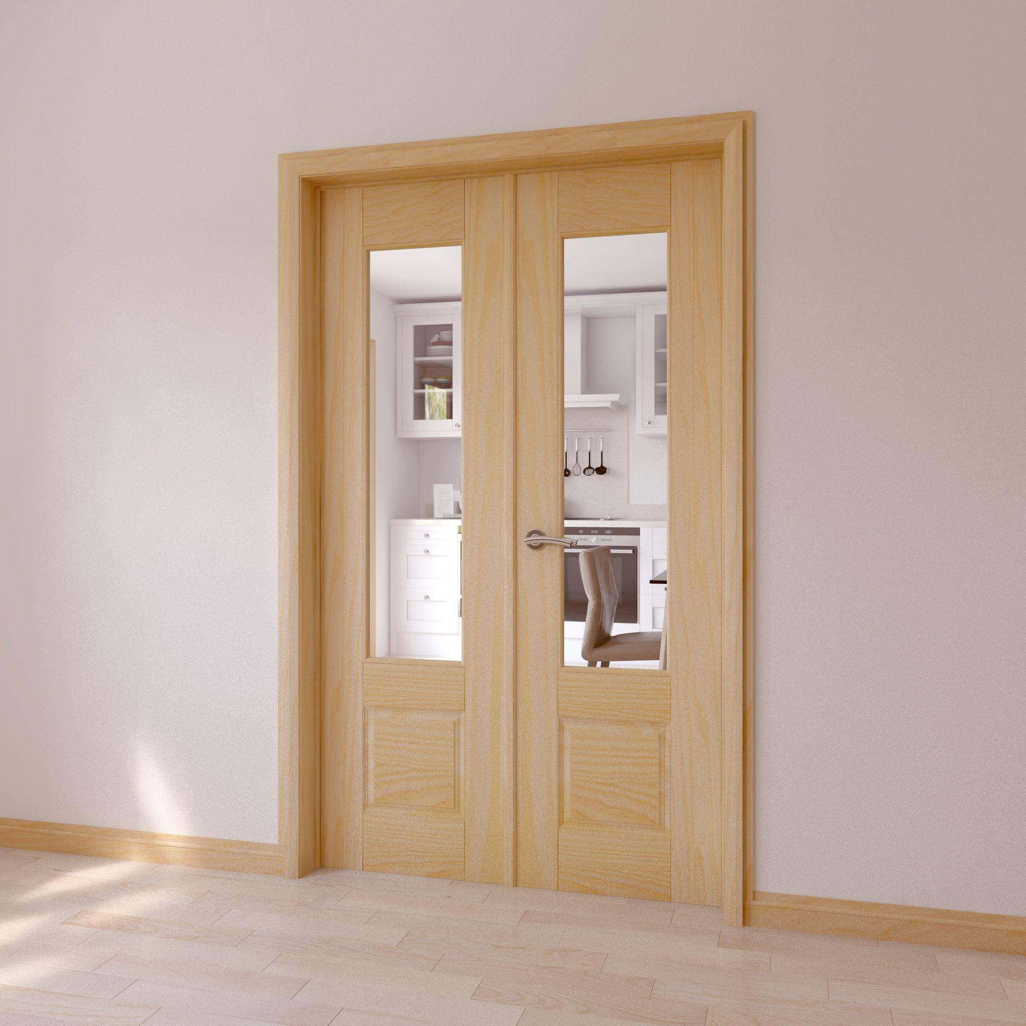 Clear glazed door diy for 1 lite french door