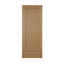 Flush 1 Panel Oak Veneer Internal Unglazed Door,