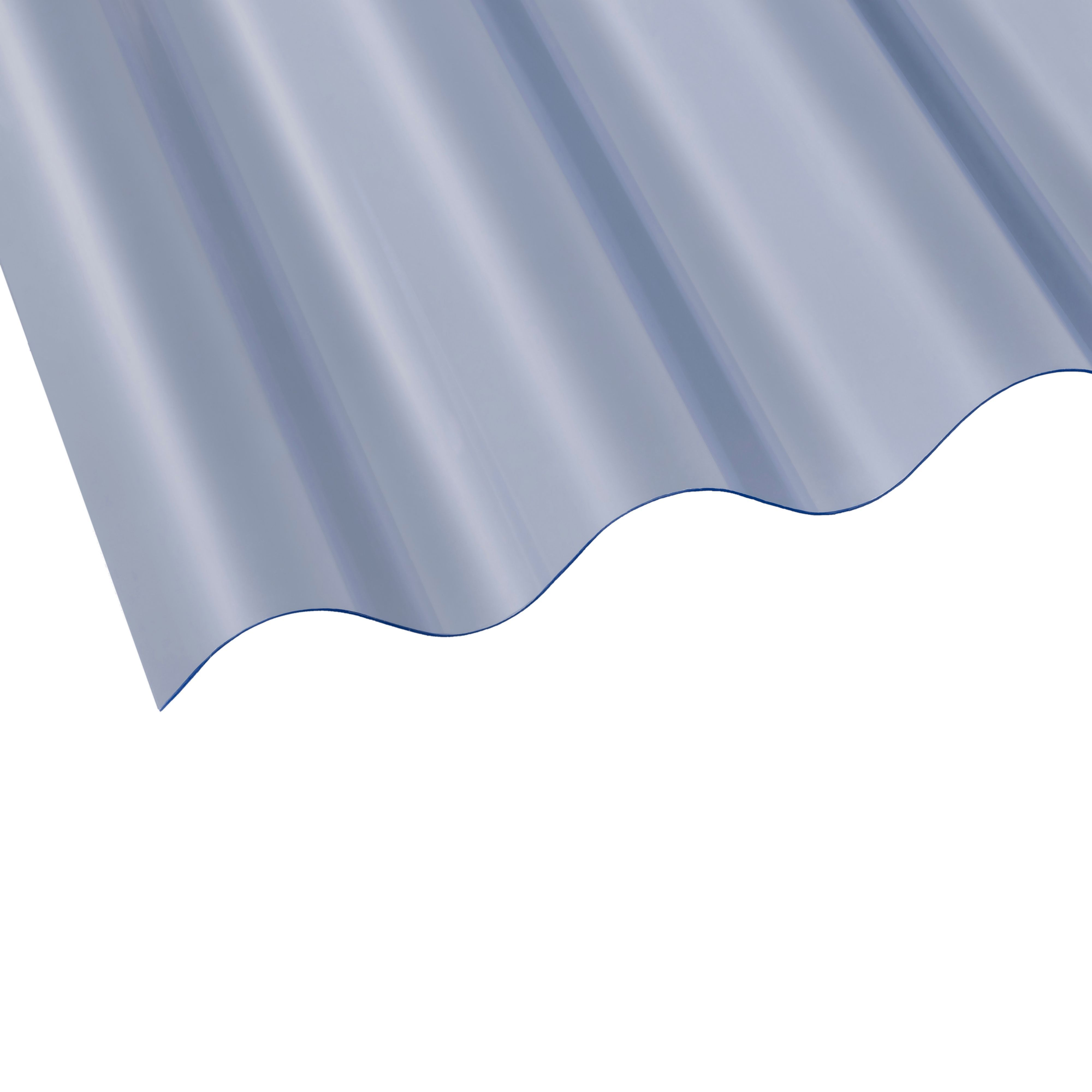 Clear Corrugated Pvc Roofing Sheet 2440mm X 762mm, Pack Of 10