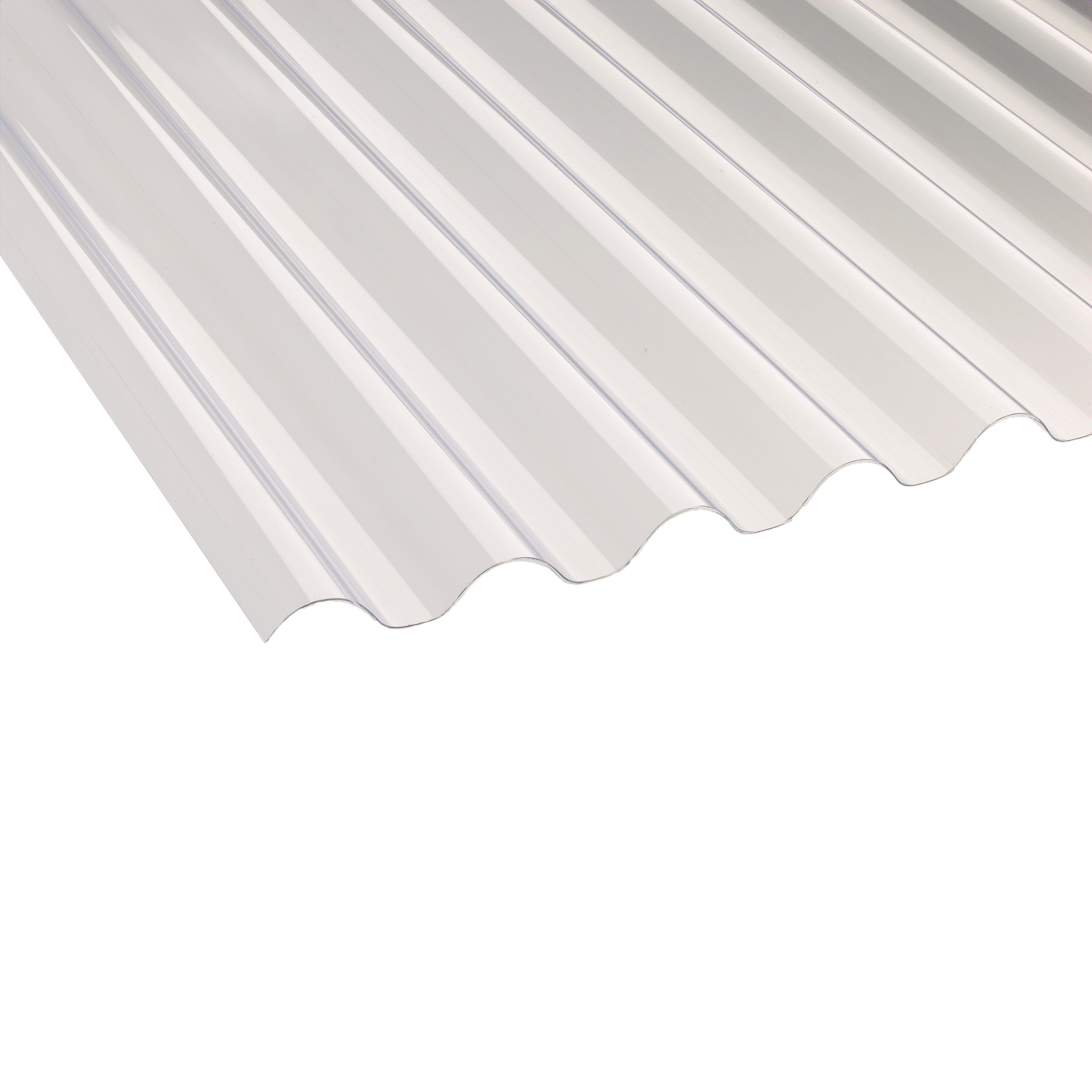 Clear Corrugated Pvc Roofing Sheet 2400mm X 660mm, Pack Of 10