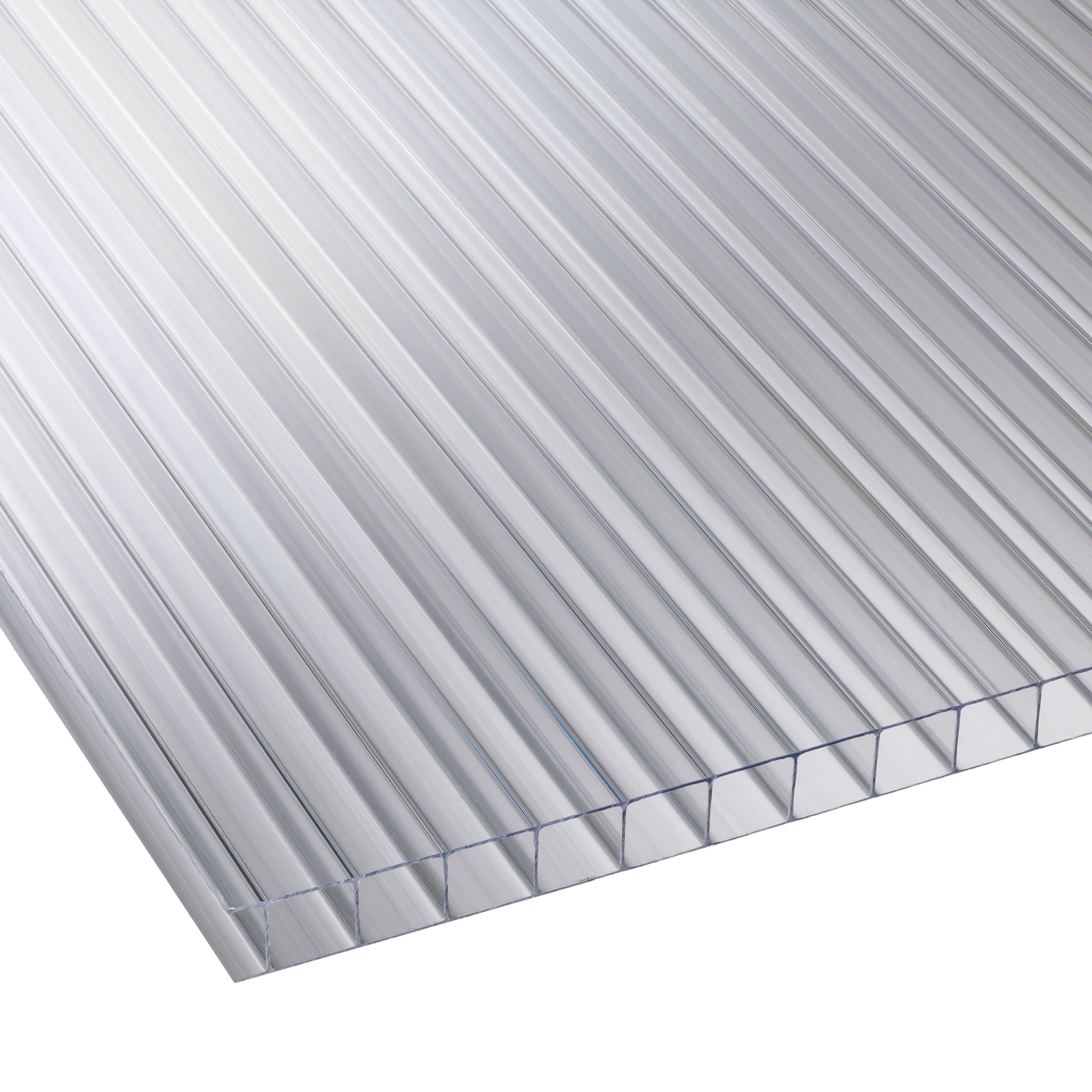 Clear Multiwall Polycarbonate Roofing Sheet 2.4m X 700mm, Pack Of 5
