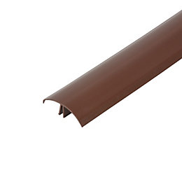 Corotherm Brown Glazing Bar Cap, (H)20mm (W)60mm (L)4000mm