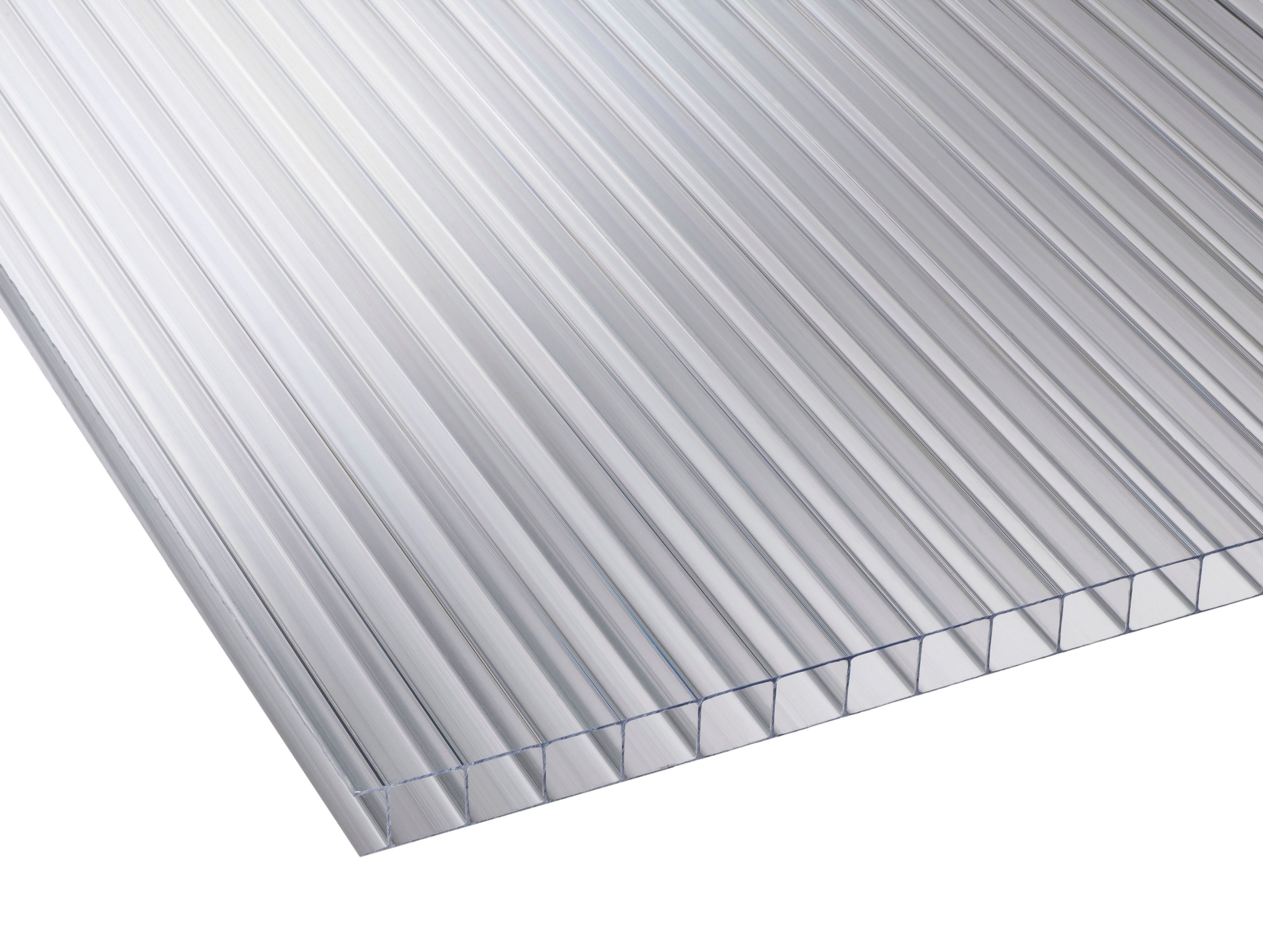 Clear Multiwall Polycarbonate Roofing Sheet 3m X 700mm, Pack Of 5