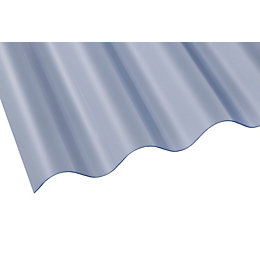 Clear Corrugated PVC Roofing Sheet 1830mm x 762mm,