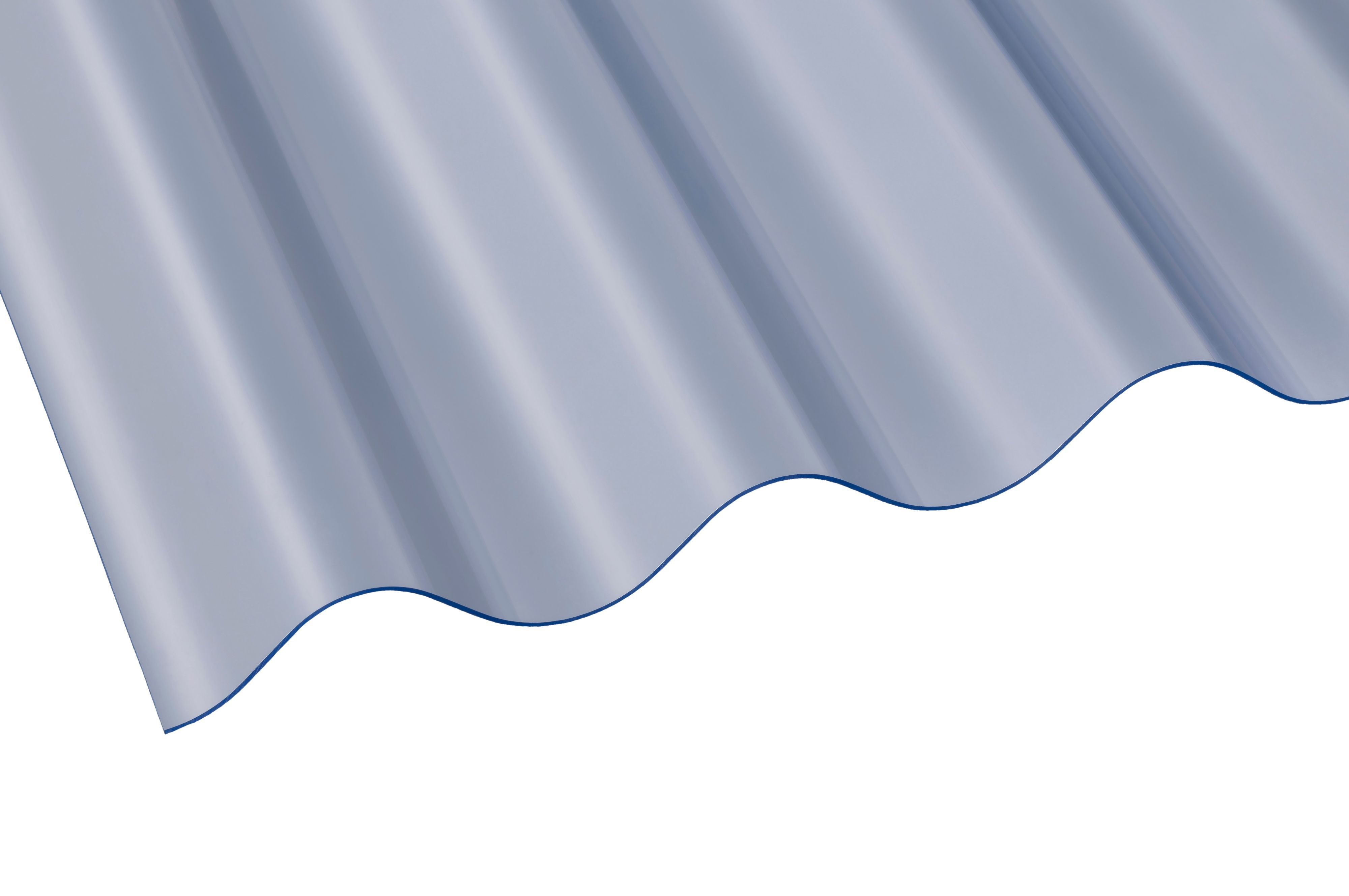 Clear Corrugated Pvc Roofing Sheet 2135mm X 762mm, Pack Of 10